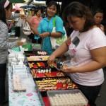 Sushi, das Häppchen für 5 Baht = 10 Eurocent