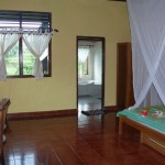 mein Zimmer 150.000 mit Badewannen-Blick aufs Reisfeld