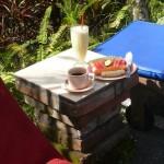 mein Frühstück am Pool