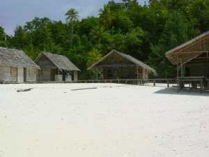 Blick auf unsere Hütte auf Mansuar