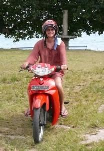 Mit dem Moped durch Saparua